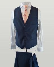 Navy Speckled Hugo Suit