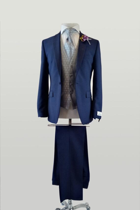 Royal 1 button Suit Swirl Waistcoat