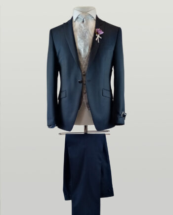 Waxton Blue 3 Piece Suit