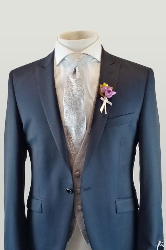 Waxton Blue 3 Piece Suit