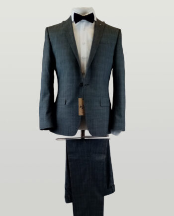 Antique Rouge Grey Check Suit