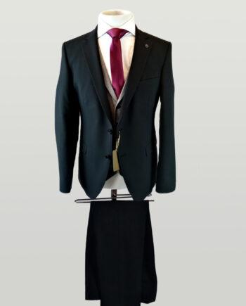 Black Suit Light Grey Waistcoat