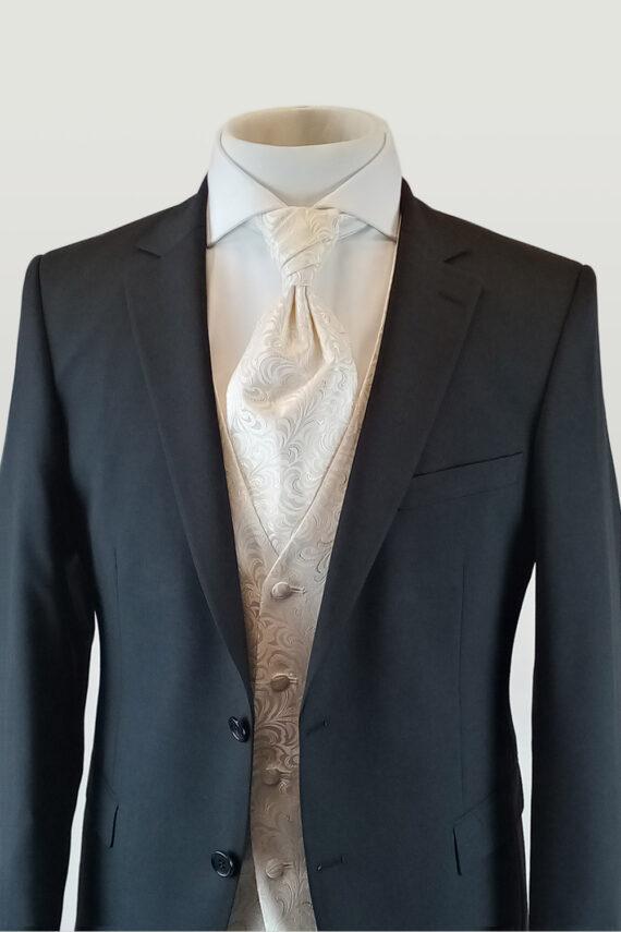 Black Suit Gold Waistcoat
