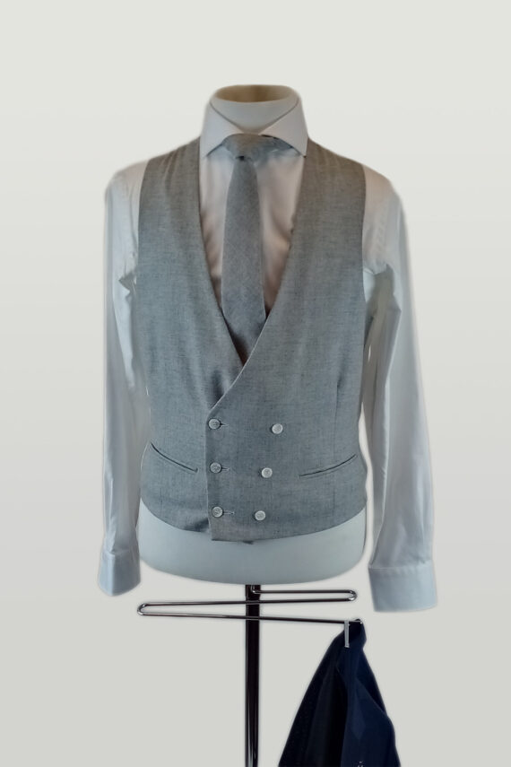 Ink Suit Grey Lambswool Waistcoat