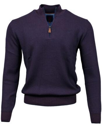 Clifden Purple Half-zip Jumper