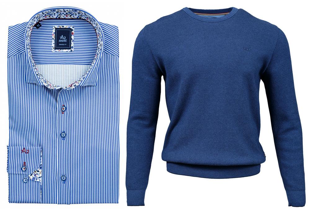 Cliff Blue Shirt Rush Cobalt Jumper combo