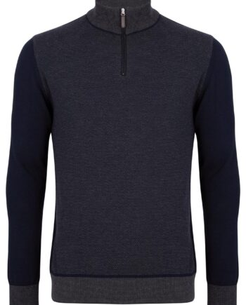 Quinn Charcoal Half-zip Jumper
