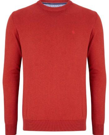 Sunset Red Crew Neck Jumper