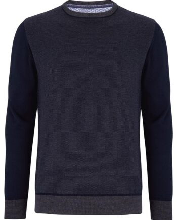 Trevor Charcoal Crew Neck Jumper