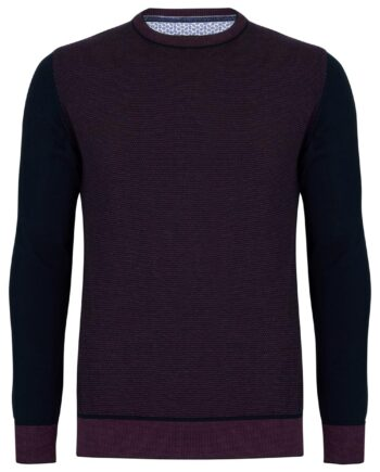 Trevor Plum Crew Neck Jumper