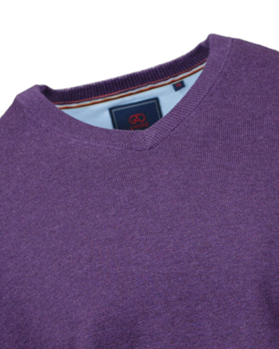 Valencia Purple V-neck Jumper