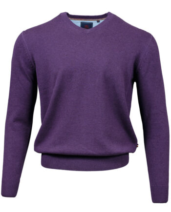 Valencia Purple V-neck Jumper