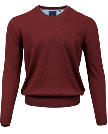 Valencia Rust V-neck Jumper