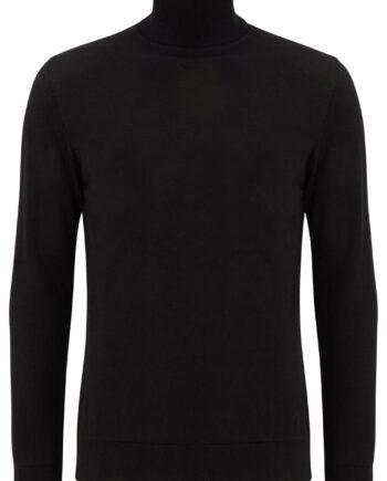 Dax Black Rollneck Sweater