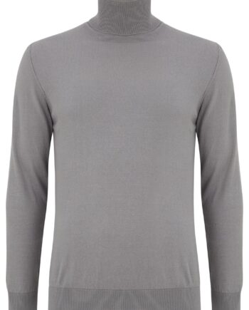 Dax Silver Rollneck Sweater