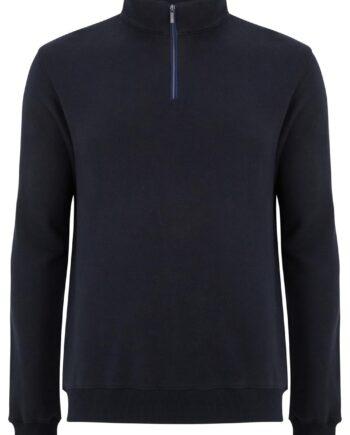 George Navy Half-zip Sweater