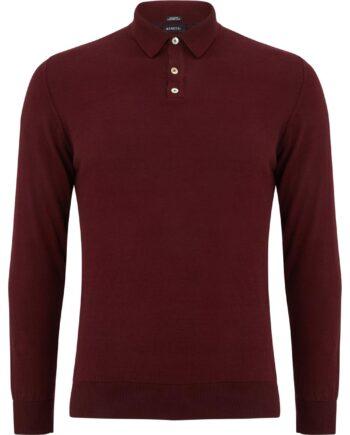 Geron Bordo Buttoned Sweater