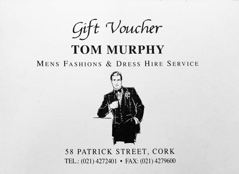 Gift Voucher Tom Murphy Menswear