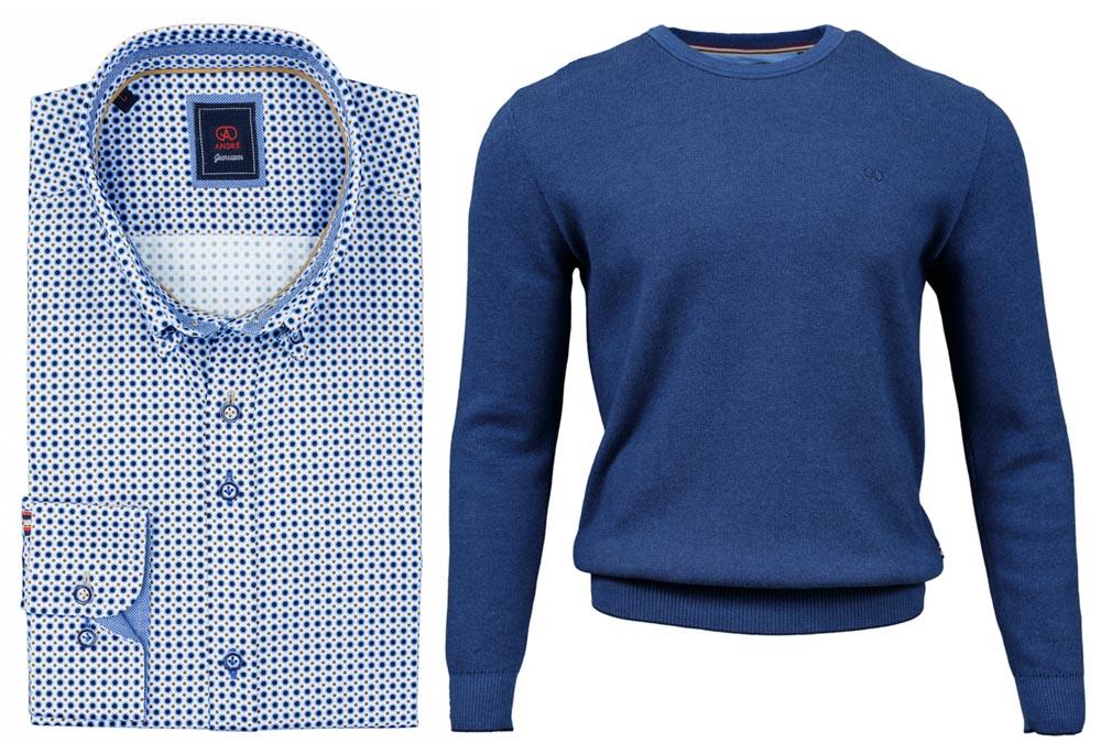 Lille Blue Shirt Rush Cobalt Jumper combo