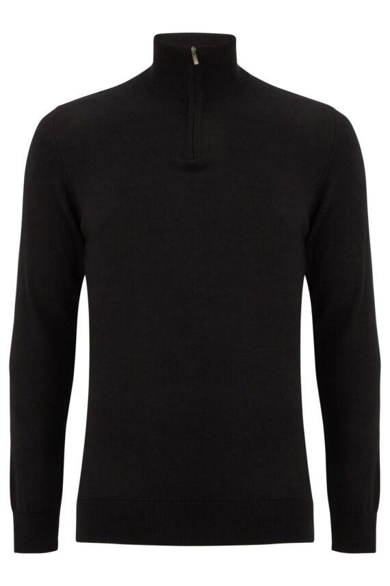 Canon Black Half-zip Sweater
