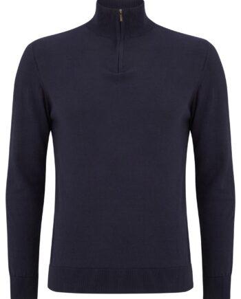 Canon Navy Half-zip Sweater