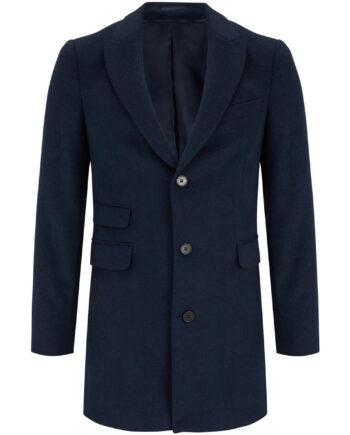 Charles Navy Wool Coat