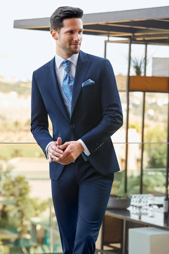 Dark Blue 3 Piece Wedding Suit