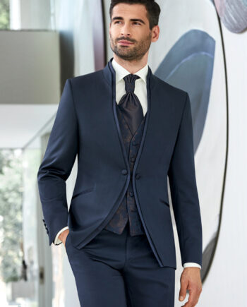 Dark Blue 3 piece Wedding Suit