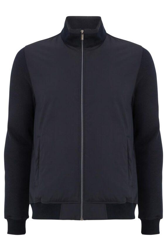 Jasper Navy Full-zip Jacket
