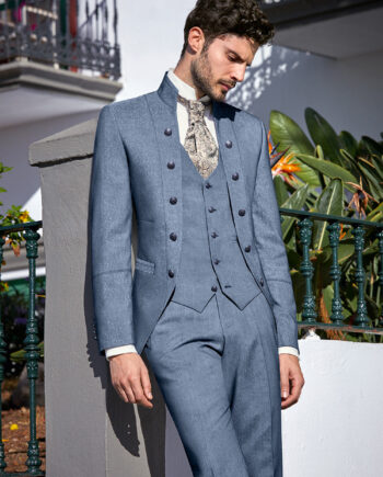 Light Blue Royal 3 piece Wedding Suit