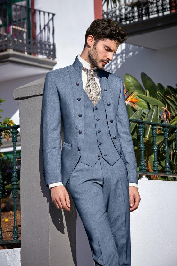 Light Blue Royal 3 piece Wedding Suit