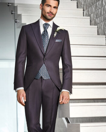 Merlot 3 piece Wedding Suit