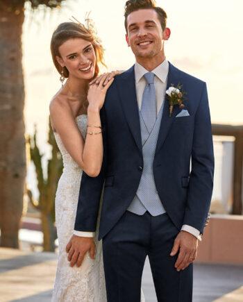 Midnight Blue 3 piece wedding suit 3300