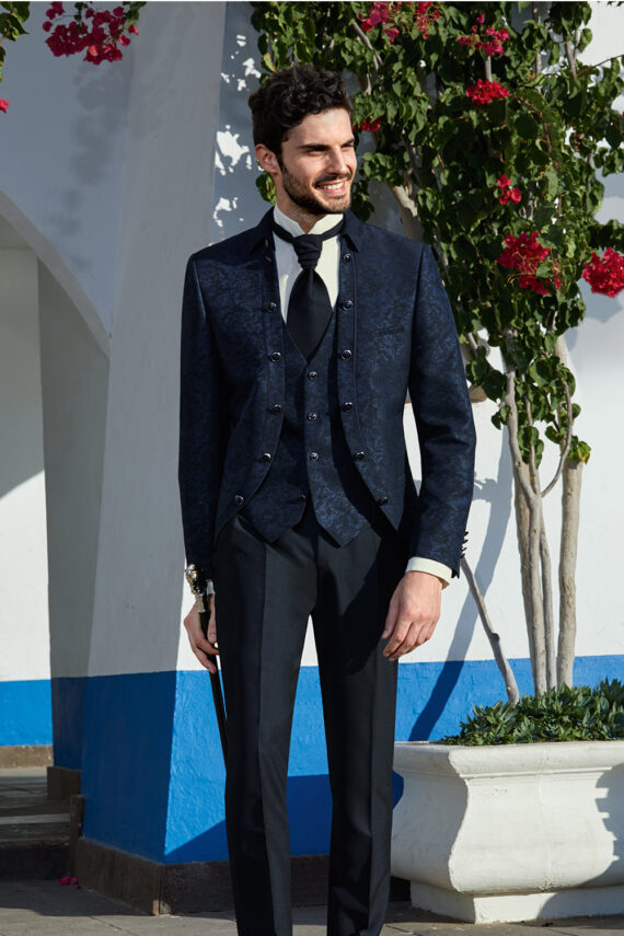 Midnight Blue Royal 3 piece Wedding Suit