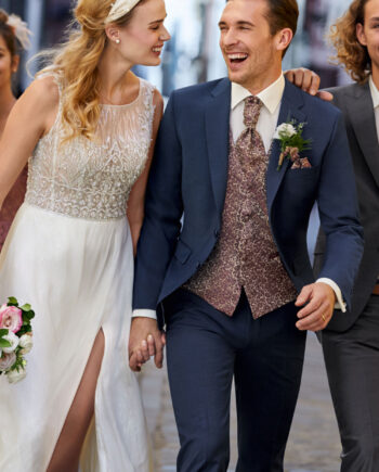 Ocean Blue 3 Piece Wedding Suit