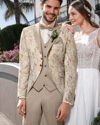 Royal Beige 3 piece Wedding Suit