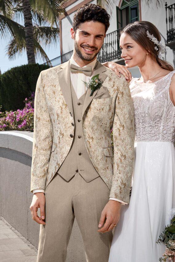 Royal Beige 3 piece Wedding Suit