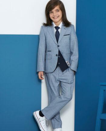 Bruce Blue 3 Piece Boys Suit
