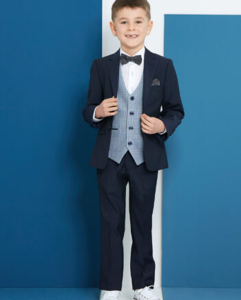 Bruce Navy 3 Piece Boys Suit