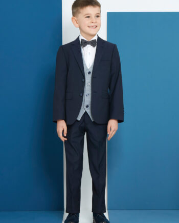 Cusack Navy 3 Piece Boys Suit