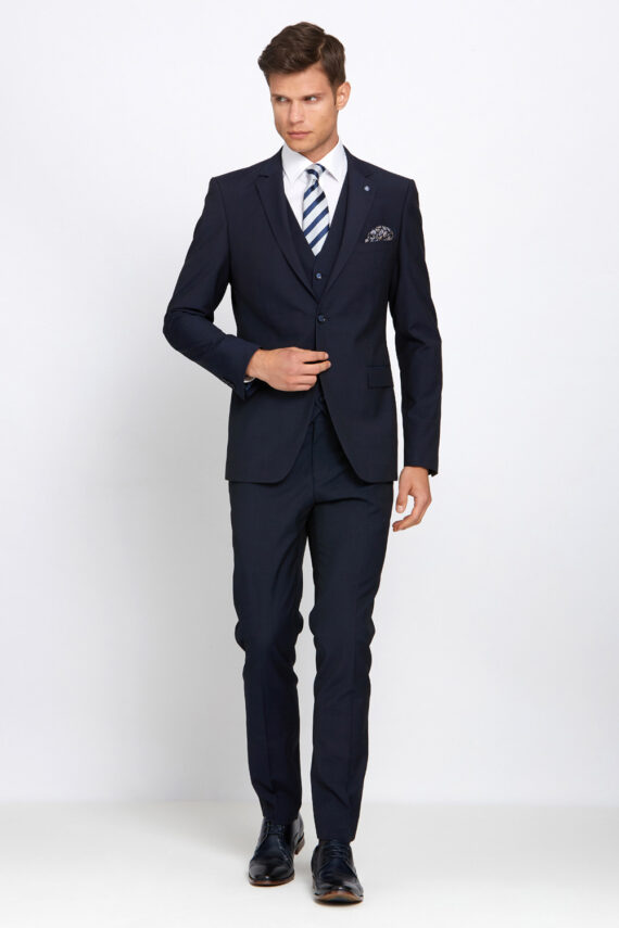 Cusack Navy 3 Piece Wedding Suit