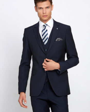 Cusack Navy 3 Piece Wedding Suit