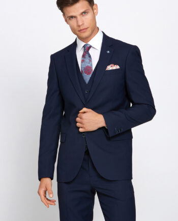 James Navy 3 Piece Wedding Suit