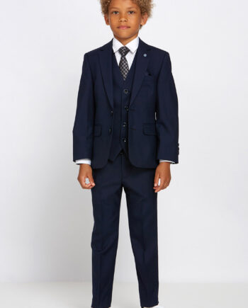 James Navy Boys 3 Piece Suit