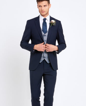 James Navy Wedding Suit Julius Waistcoat