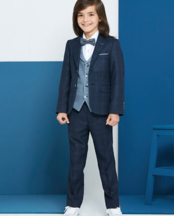 Joey Navy Blue 3 Piece Boys Suit