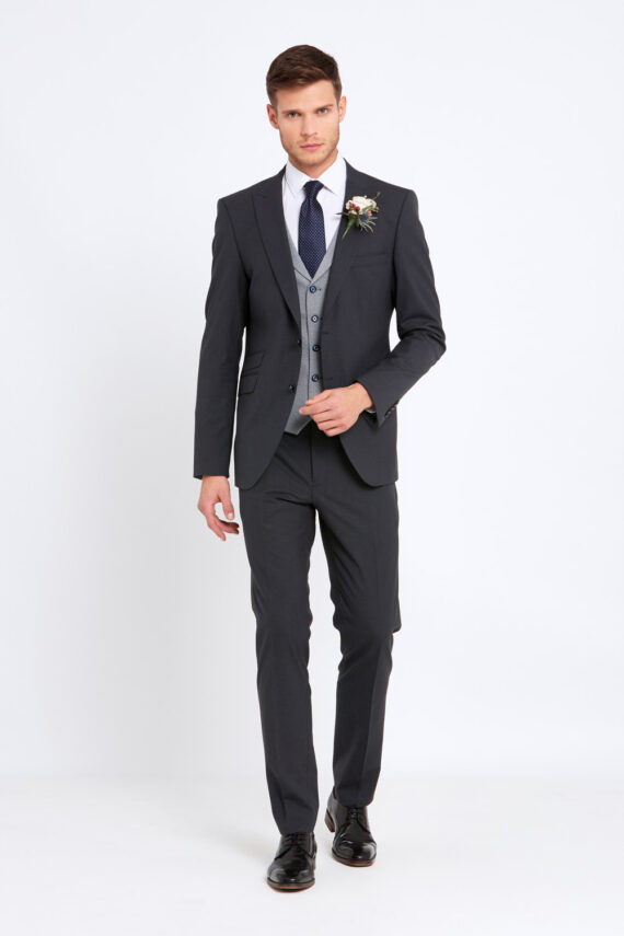 Jonny Charcoal Wedding Suit
