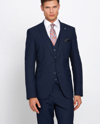 Jonny Navy 3 Piece Wedding Suit