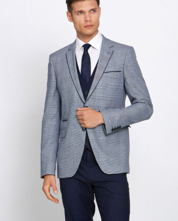 Marvin Navy Check Wedding Suit