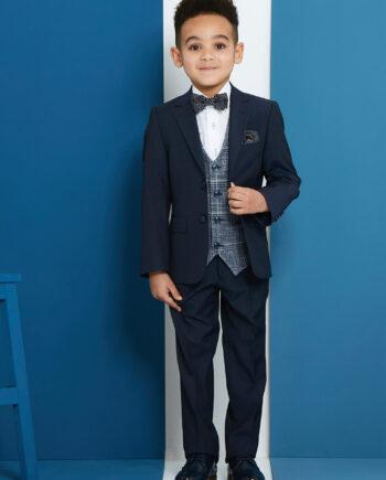 Pio Blue Royal 3 Piece Boys Suit